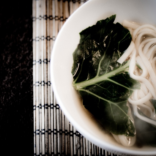 miso soup with greens