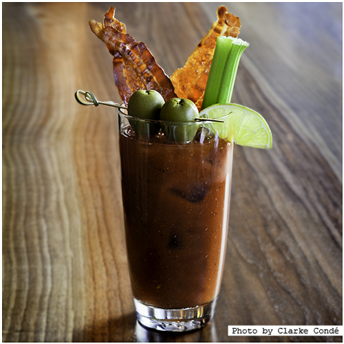 rochester sunday bloody mary with bacon