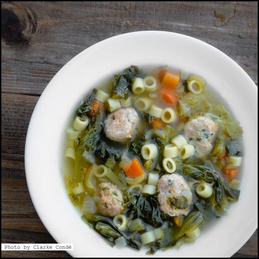 Italian wItalian wedding with meatball soup
