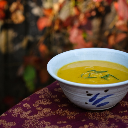 squash and maple soup