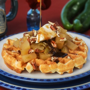 waffels with green chile